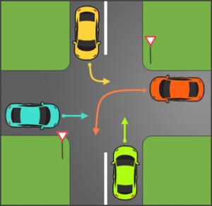 فرهنگ رانندگی در تقاطع