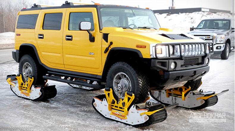 دستگاه رانندگی در برف