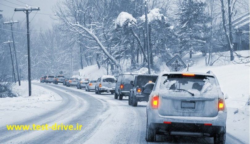 در شرایط یخبندان مسافت توقف چند برابر افزایش می یابد؟