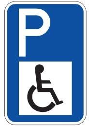 تابلوی محل پارک افراد معلول