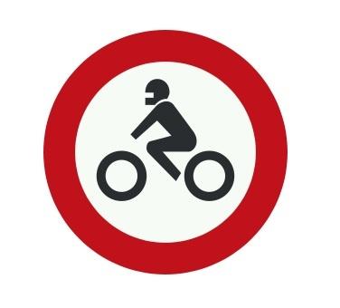 تابلو عبور موتورسیکلت ممنوع