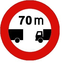 رعایت فاصله کمتر از 70 متر ممنوع