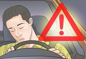 خوابیدن در حین رانندگی