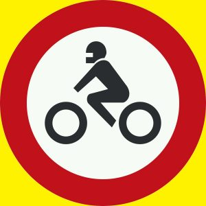 عبور موتور سیکلت ممنوع