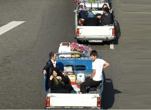 حمل مسافر در قسمت بار