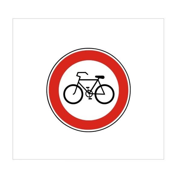 عبور دوچرخه ممنوع